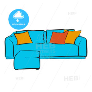 comfortable couch with two parts - HEBSTREITS