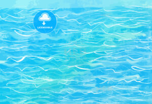 hand-drawn blue water background - HEBSTREITS
