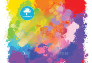 hand-drawn colourful splashes background - HEBSTREITS