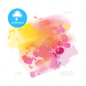 yellow and pink splatter watercolor background - HEBSTREITS
