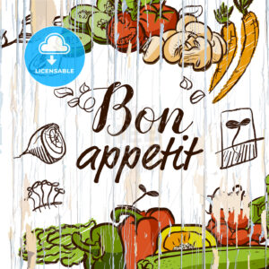 Bon appetit vegetables on wood - HEBSTREITS