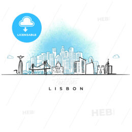 City skyline of Lisbon, Portugal