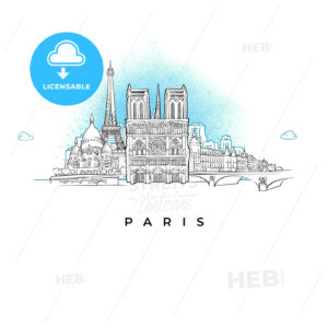 City skyline of Paris, France - HEBSTREITS