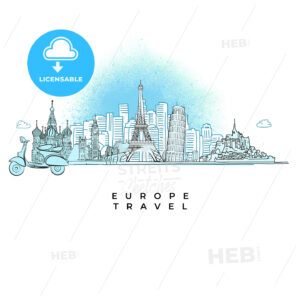 Europe Travel concept City skyline - HEBSTREITS