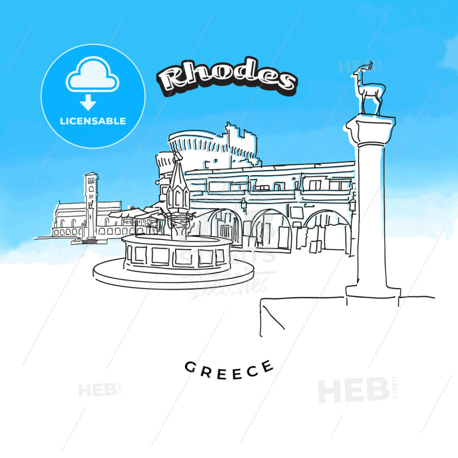 Rhodes Greece famous landmarks - HEBSTREITS