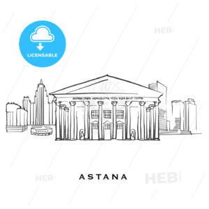 Astana Kazakhstan famous architecture - HEBSTREITS