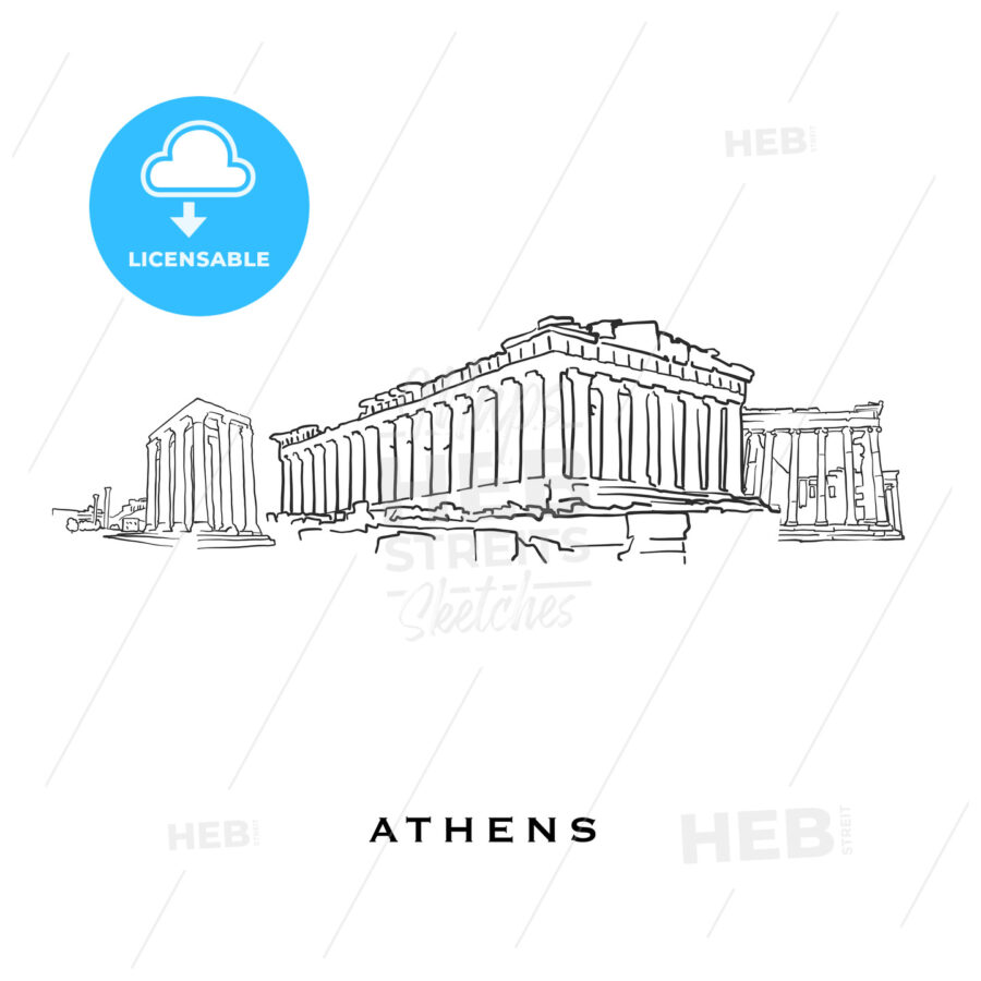Athens Greece famous architecture - HEBSTREITS