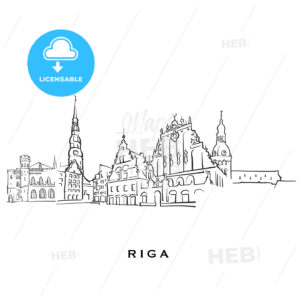 Riga Latvia famous architecture - HEBSTREITS