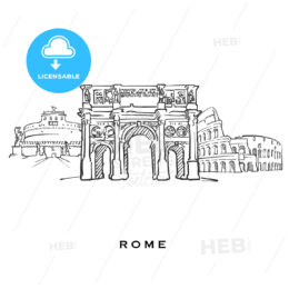 Rome Italy famous architecture