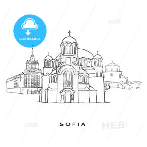 Sofia Bulgaria famous architecture - HEBSTREITS