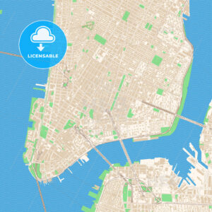 Street map of downtown New York City, New York - HEBSTREITS