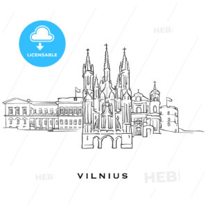 Vilnius Lithuania famous architecture - HEBSTREITS
