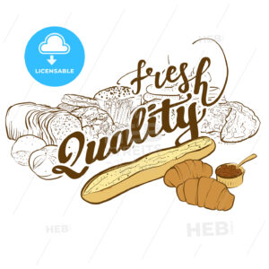 Bakery logo fresh quality - HEBSTREITS