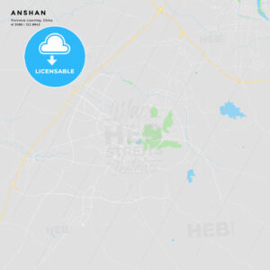 Printable street map of Anshan, China - HEBSTREITS