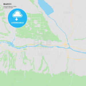 Printable street map of Baoji, China - HEBSTREITS