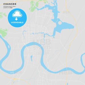 Printable street map of Changde, China - HEBSTREITS