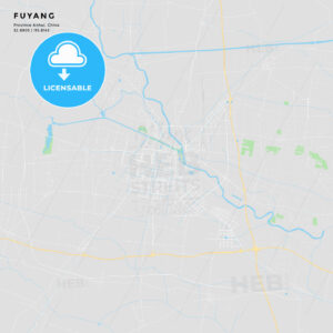 Printable street map of Fuyang, China - HEBSTREITS