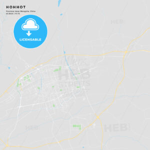 Printable street map of Hohhot, China - HEBSTREITS
