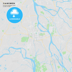 Printable street map of Jiangmen, China - HEBSTREITS