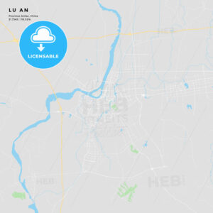 Printable street map of Lu an, China - HEBSTREITS
