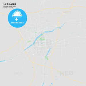 Printable street map of Luoyang, China - HEBSTREITS