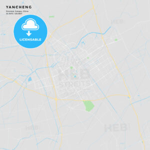 Printable street map of Yancheng, China - HEBSTREITS