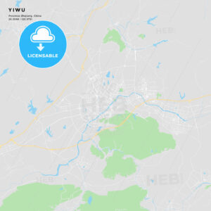 Printable street map of Yiwu, China - HEBSTREITS