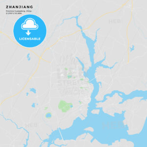 Printable street map of Zhanjiang, China - HEBSTREITS