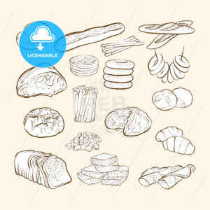 breads and bakery icons - HEBSTREITS
