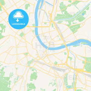 Basel, Switzerland Vector Map – Classic Colors - HEBSTREITS Sketches