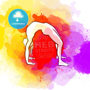 Creative Bridge Yoga Pose - HEBSTREITS Sketches