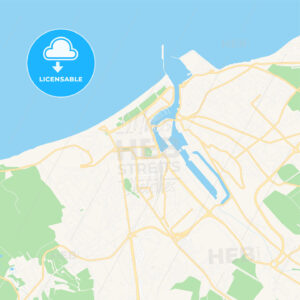 Dieppe, France Vector Map – Classic Colors - HEBSTREITS Sketches