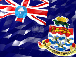 Flag of Cayman Islands 3D Wallpaper Illustration