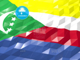 Flag of Comoros 3D Wallpaper Illustration