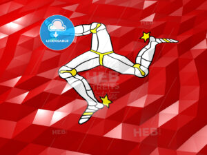 Flag of Isle of Man 3D Wallpaper Illustration - HEBSTREITS Sketches