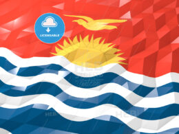 Flag of Kiribati 3D Wallpaper Illustration