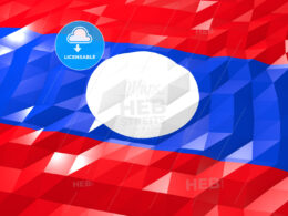Flag of Laos 3D Wallpaper Illustration