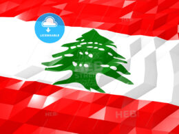 Flag of Lebanon 3D Wallpaper Illustration
