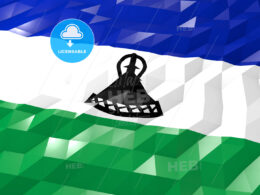 Flag of Lesotho 3D Wallpaper Illustration