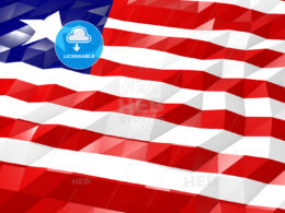 Flag of Liberia 3D Wallpaper Illustration