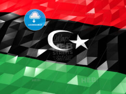 Flag of Libya 3D Wallpaper Illustration