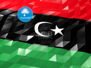 Flag of Libya 3D Wallpaper Illustration - HEBSTREITS Sketches