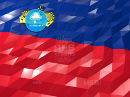 Flag of Liechtenstein 3D Wallpaper Illustration