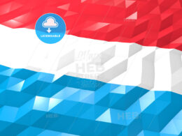 Flag of Luxembourg 3D Wallpaper Illustration