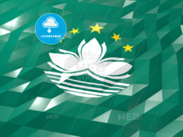 Flag of Macao 3D Wallpaper Illustration