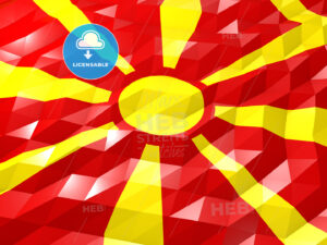 Flag of Macedonia 3D Wallpaper Illustration - HEBSTREITS Sketches