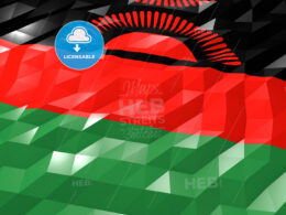 Flag of Malawi 3D Wallpaper Illustration