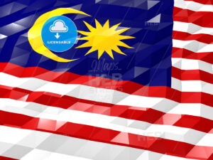 Flag of Malaysia 3D Wallpaper Illustration - HEBSTREITS Sketches