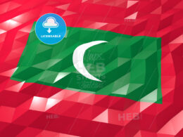 Flag of Maldives 3D Wallpaper Illustration