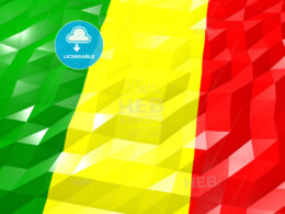 Flag of Mali 3D Wallpaper Illustration